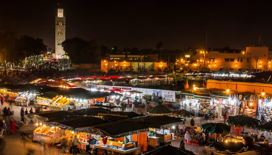 Marrakech Market at night